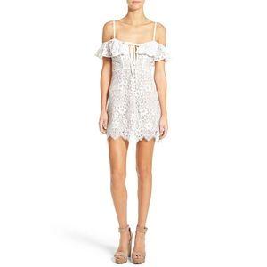 For Love & Lemons Rosemary Mini Dress Size S NWT
